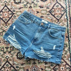 💕3 for $20 BASICS Cropped Distressed Denim Shorts